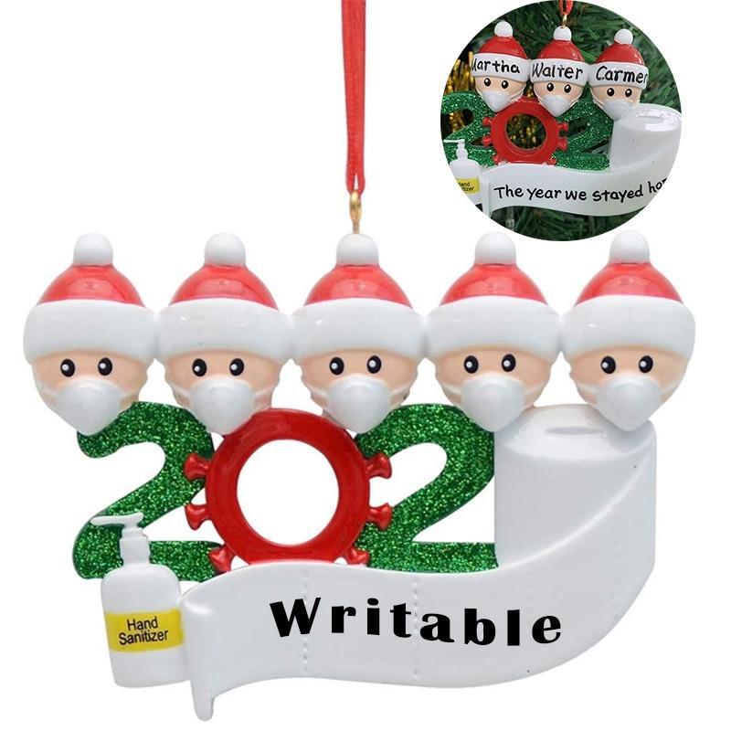 Christmas DIY name blessings soft clay mask snowman Christmas tree hanging pendant ornaments natal kerst home decor navidad 2020