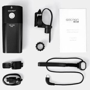 Image 5 - GACIRON אופניים אור USB נטענת אופניים קדמי פנס רכיבה על פנס IPX6 עמיד למים 5000mAh 1600 לום LED מנורת 6 מצב