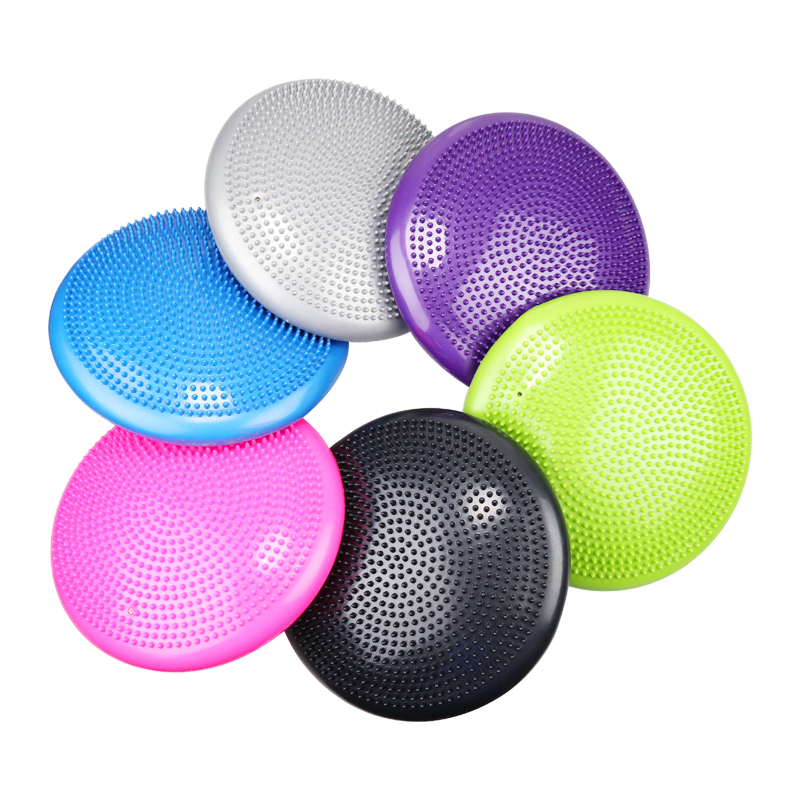 33cm Durable Inflatable Yoga Massage Ball Pad Universal Sports Gym Fitness Yoga Wobble Stability Balance Disc Cushion Yoga Ball