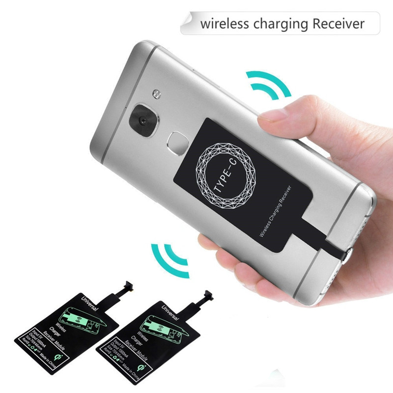 Type C Wirless Charger Receiver For Samsung A90 A80 A70 A50 A30 A20 S7 S6 edge M20 M30 Wirless Receiver Tupe C Chargeur Sans Fil