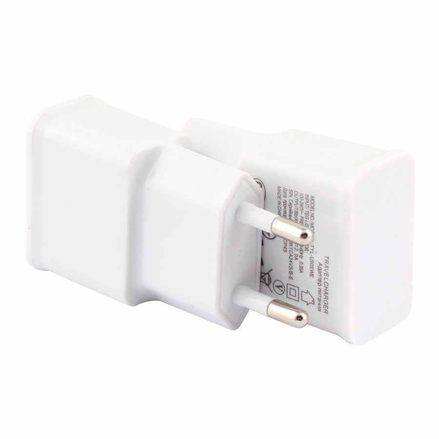 2 Cổng USB Sạc Cho Điện Thoại Di Động 5V/2A EU Cắm Sạc Nhanh Sạc Tường Du Lịch Di Động Nhanh sạc Đen/Củ Sạc Trắng