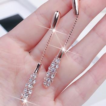 2020 new hot style earrings female fashion and elegant long drop-shaped alloy earrings earrings