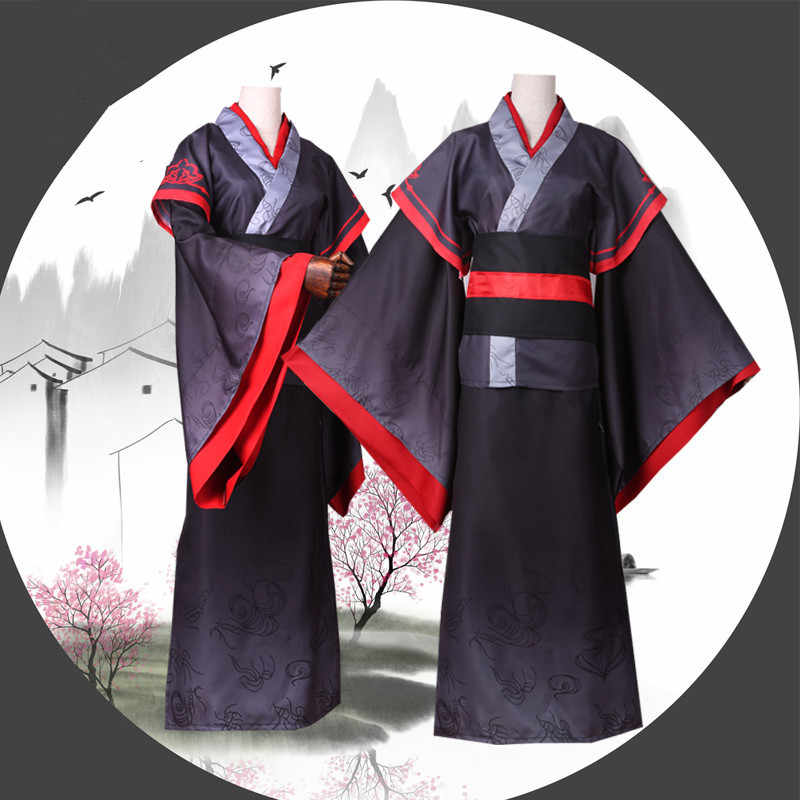 Men Grandmaster of Demonic Cultivation Wei Wuxian//Mo Xuanyu Cosplay Costume Wigs