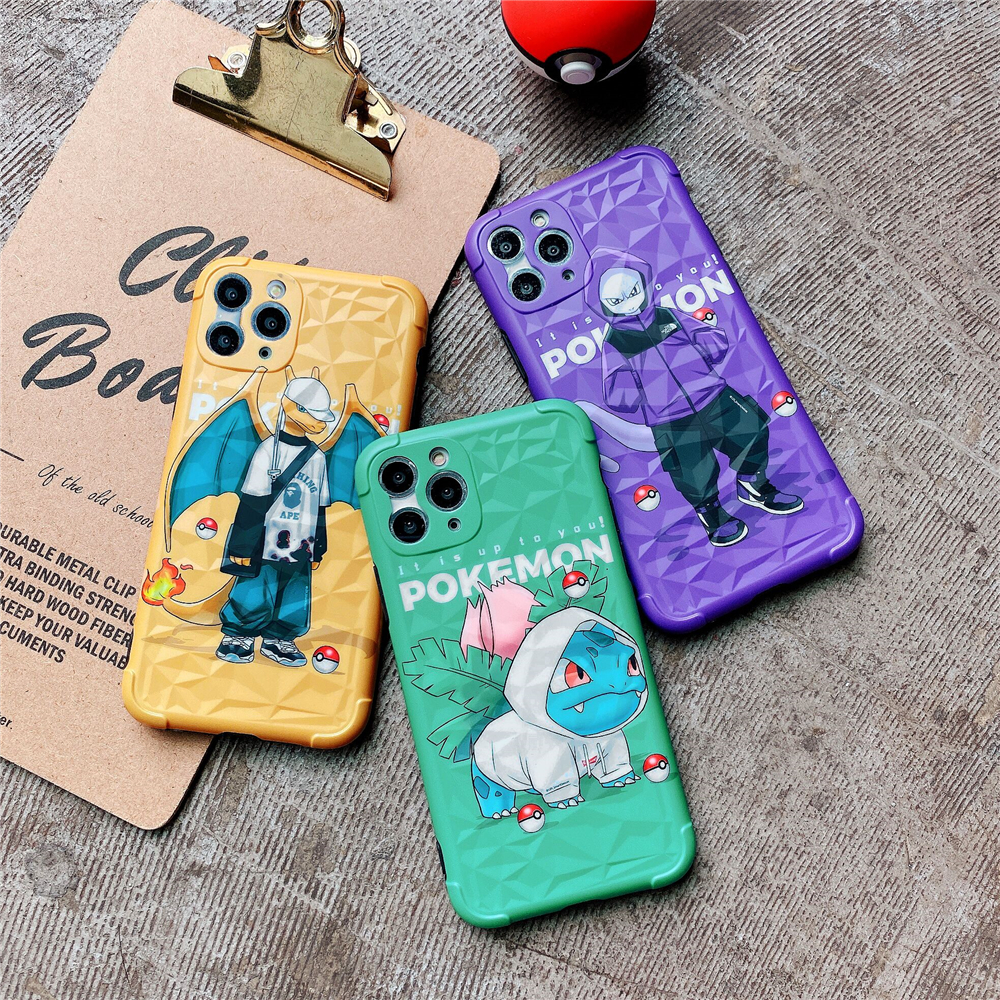 Phone Cases for Iphone 11pro Max Case Fashion Pokemon Anime Soft Phone Case Apple Iphone XSmax/XR/8/7Plus Case Phone Bags YGK