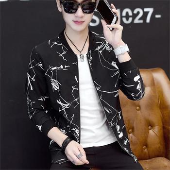 OLOEY 2019 New Fashion Flower Bomber Jacket Male Casual Men Jacket Coats Autumn Thin Jaqueta Masculino Plus Size 5XL 6XL