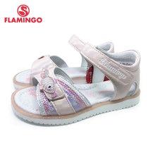 FLAMINGO 2021 Sommer kinder sandalen Haken & Schleife Flache Gewölbte Design Chlid Casual Prinzessin Schuhe Größe 26-31 Für mädchen 211S-Z6-2326