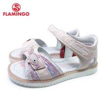 FLAMINGO 2021 Summer kinder sandalen Hook& Loop Flat Arched Design Chlid Casual Princess Shoes Size 26-31 For Girls 211S-Z6-2326