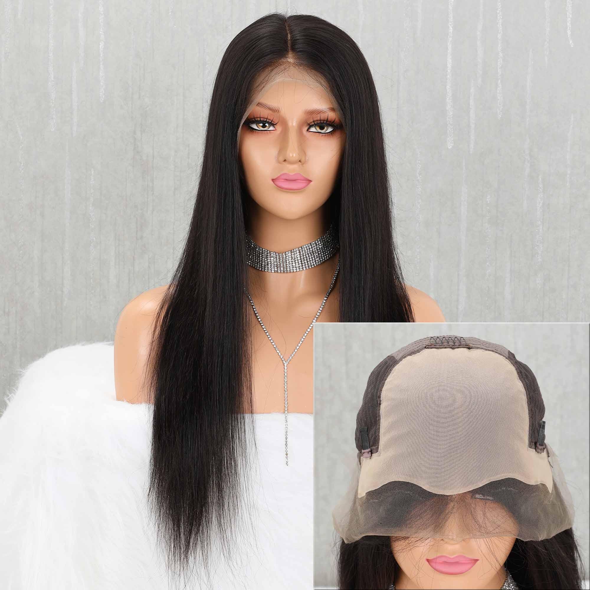 Yeahwigs 13*6 Straight Fake Scalp Wig 150% Silk Straight Wigs For Black Women