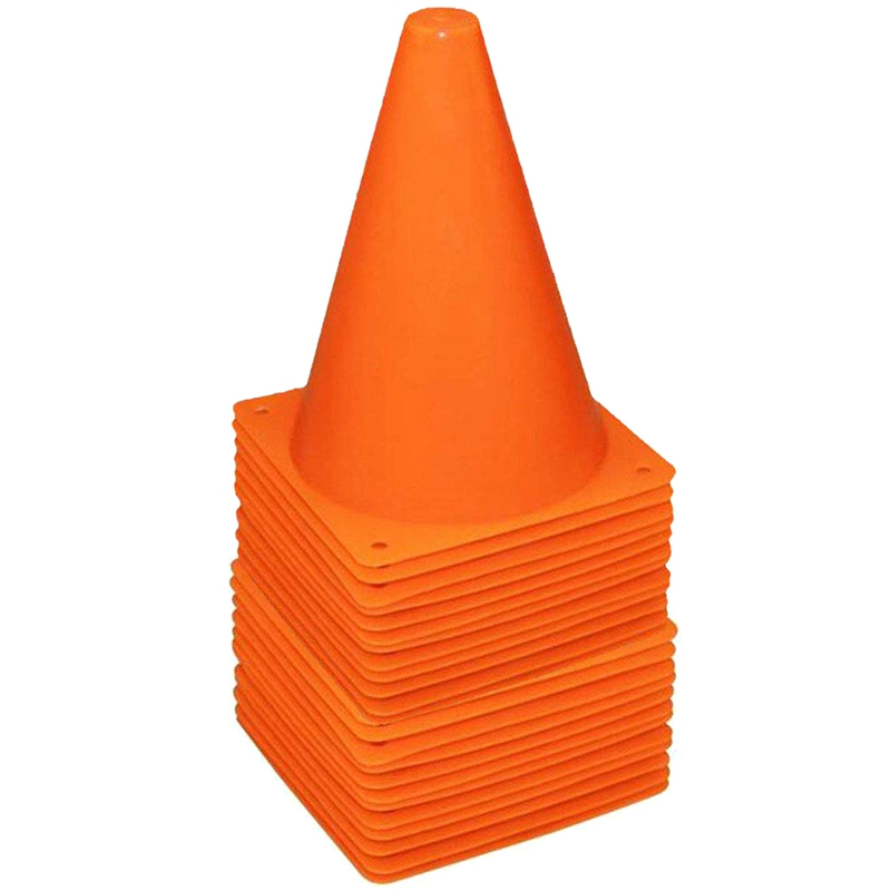36 Pack 7 Inch Plastic Traffic Cones Sport Training Cone Sets Field Marker Cones For Skate Soccer Agility Training & Physical Ed