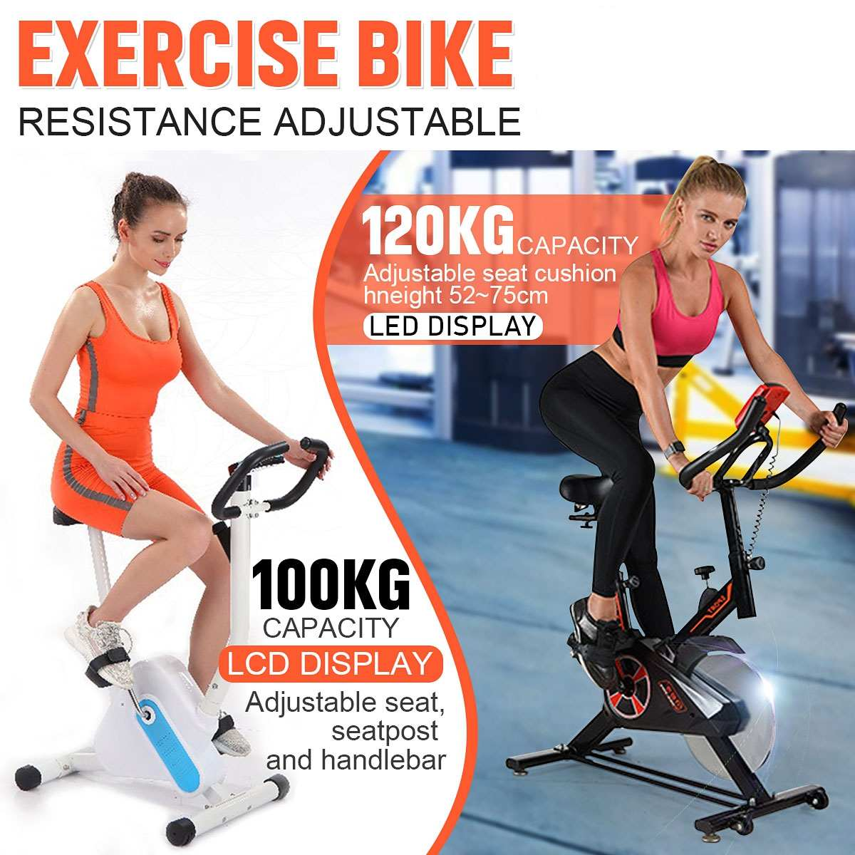 Permalink to 6 Gear Adjusable Home Indoor Cycling Bike Trainer LED Display Bicycle Fitness Exercise Cardio Tools Stationary Fitness Equipment