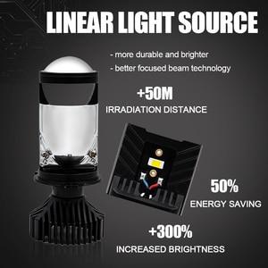 Image 2 - Cartnt 2 pces lâmpada h4 lâmpadas led mini lente led projetor faróis do carro 30000lm lampada led h4 oi/baixo feixe luzes canbus 12v lâmpada