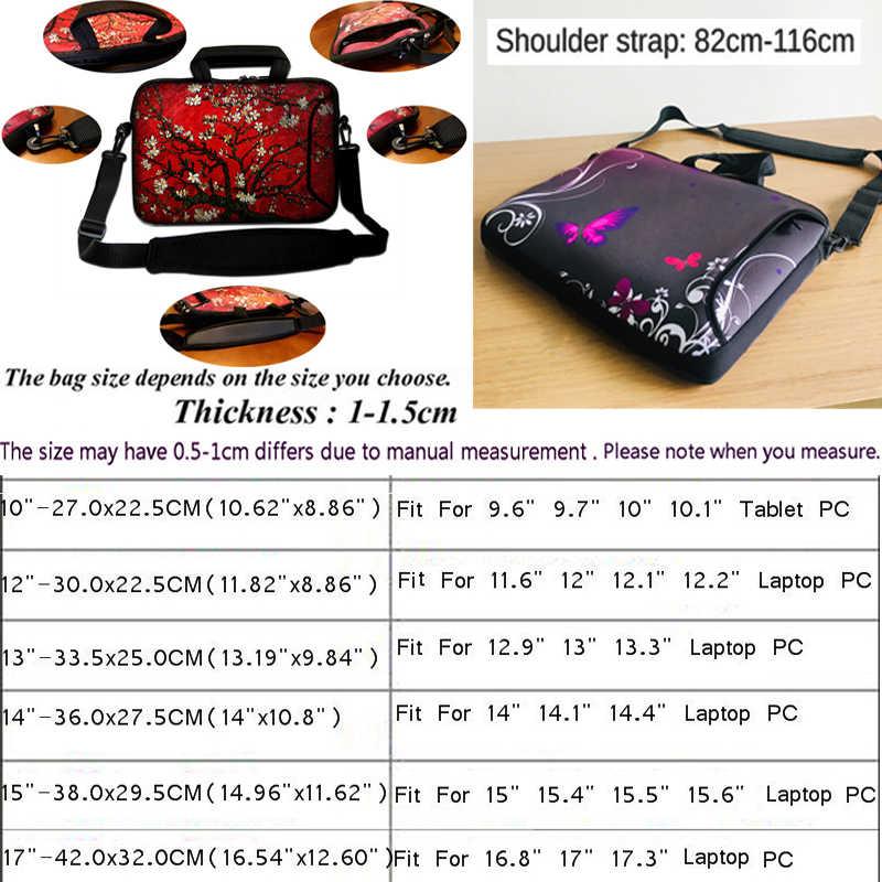 Mooie Casual 14 Inch Notebook Tas 15 13 12 17 10 Laptop Case 17.3 15.6 11.6 13.3 10.1 Messenger Tablet PC Zakken Voor iPad Acer