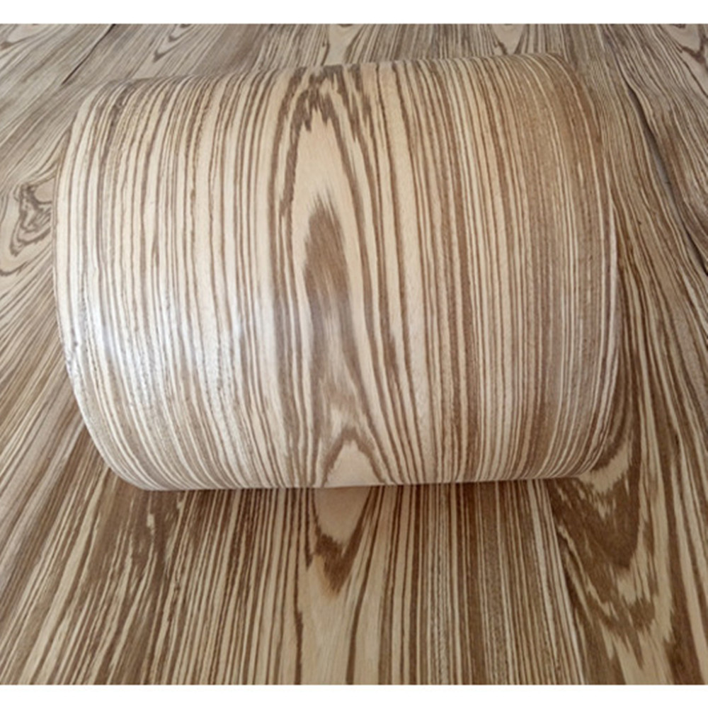 2x Natural Genuine Zebra Wood Veneer Furniture Veneer About 15cm X 2.5m 0.4mm Thick C/C