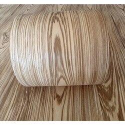 2x naturalna oryginalna okleina z forniru z drewna zebry około 15cm x 2.5m 0.4mm grubości C/C Akcesoria meblowe    -