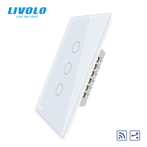 "Image 3 - Livolo יצרן, ארה""ב סטנדרטי, מגע מסך קיר אור מתג, 2 דרכים מרחוק צלב דרך מתגים, עמדה שונה שליטה"