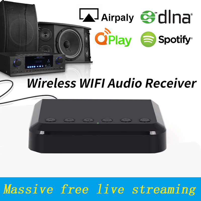 Wr320 Wireless Wifi Audio Receiver Multiroom Multiroom Music Adapter For Wired Hifi Speakers System Airplay Spotify Dlna Nas Aliexpress