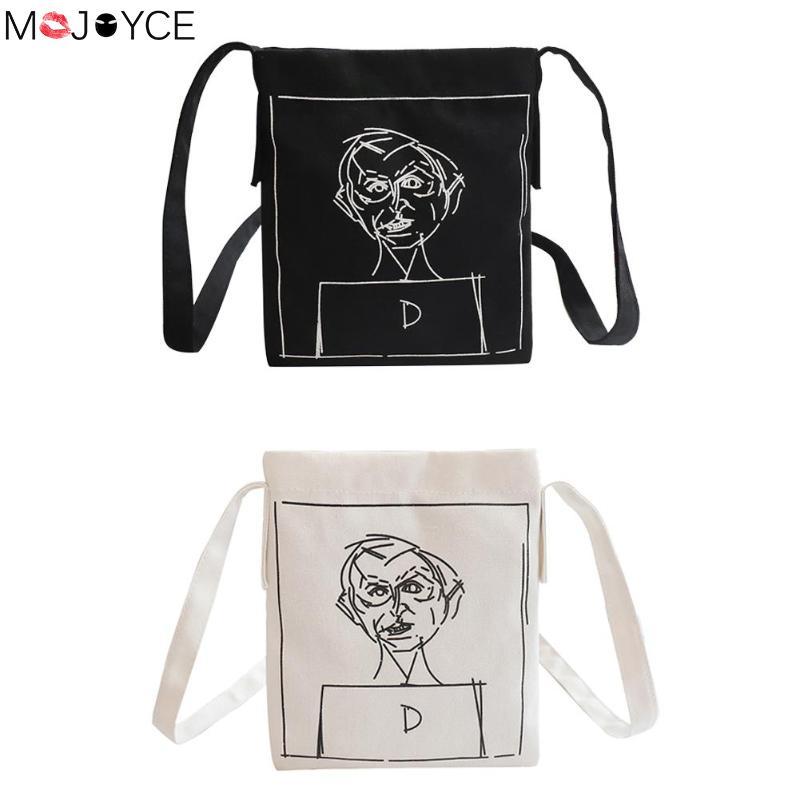 Women Bags Canvas Fashion Women Shoulder Crossbody Bag Cartoon Printed Daily Handbag Bolsa Feminina Bags Crossbody Bags