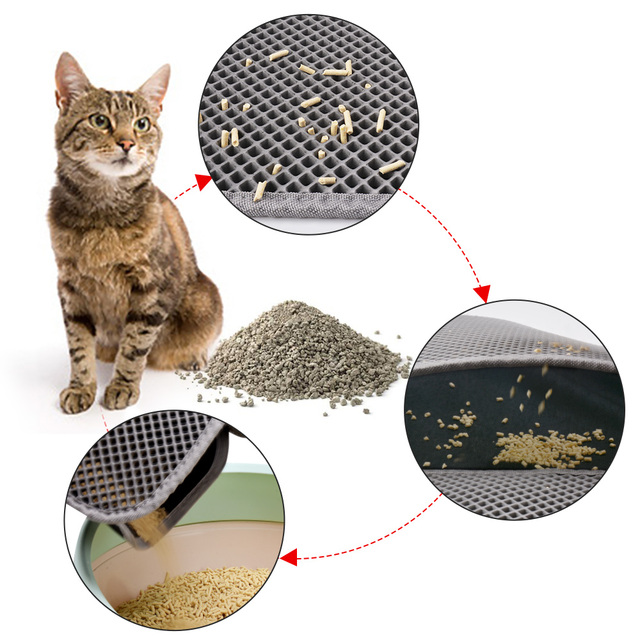 Pet Cat Litter Mat Double Layer Waterproof Litter Cat Pads For Cats House Clean Super Light Easy To Carry Smooth Surface 3