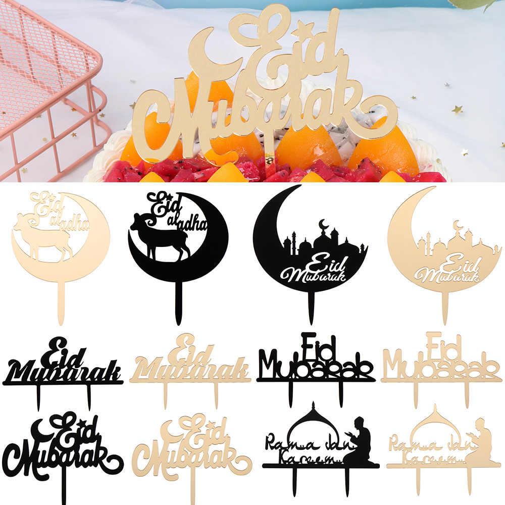 EID Mubarak Bánh Trang Trí Đồ Ramadan Bánh Nước Quai Trang Trí Vàng Lấp Lánh Bánh Ban Hajj Mubarak Dự Tiệc Cung Cấp Hồi Giáo Làm Bánh Trang Trí