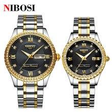 Модные часы для влюбленных nibosi мужские и женские повседневные