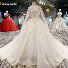 LS54799 long cape wedding dress with collar chain off shoulder sweetheart hot selling bride wedding gown vestido de noiva barato