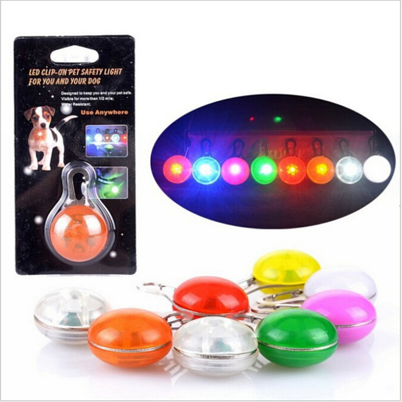 Circle Light-emitting Pendant Pet Shining Dog Identification Flashlight LED Wholesale