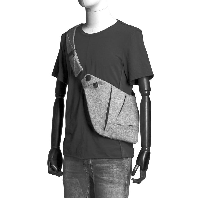 CAI Fashion Cool Chest Bag Men Casual Messenger Beach Anti-Theft Waistbag Fanny Pack Waterproof Women Shoulder Sling Bags