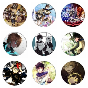 Black Clover Cosplay Badges Asta/ Yuno Brooch Icon Collection Bags Noell Silva Breastpin for Backpacks Clothing(China)
