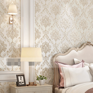Image 2 - European Style PVC Waterproof Wallpaper Luxury Damask 3D Stereoscopic Relief Damascus Bedroom Living Room Wall Paper Home Decor