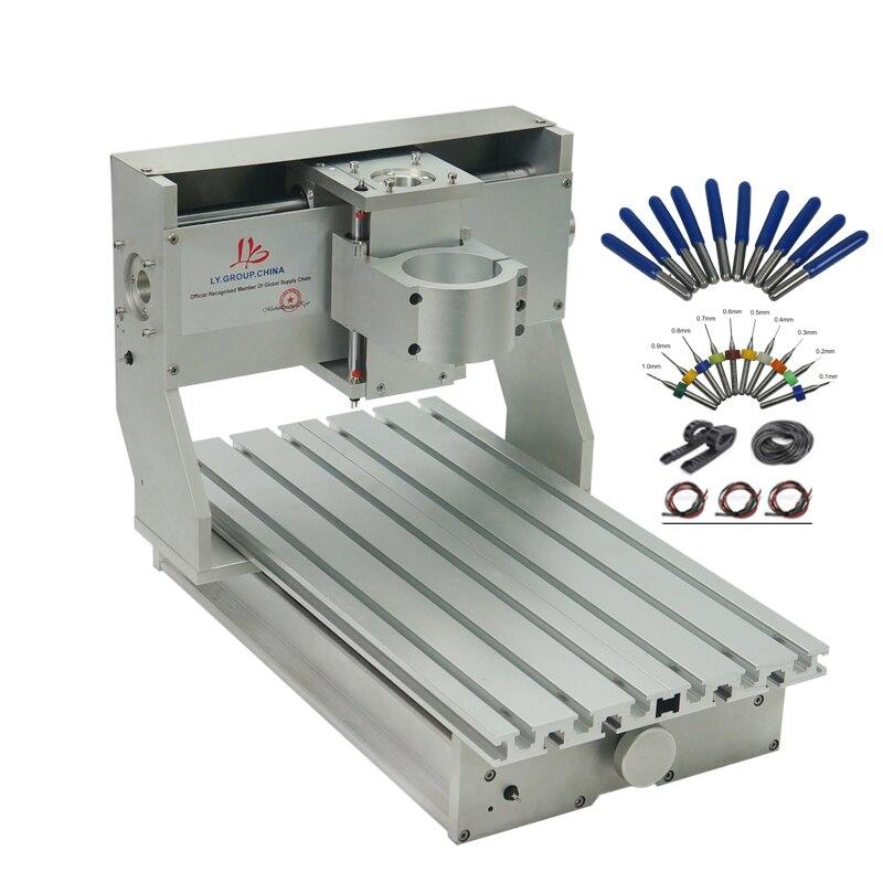 DIY рама станка с ЧПУ набор 3020 CNC рамка собранная мини CNC маршрутизатор токарный станок 2030 запасные части с концевым переключателем