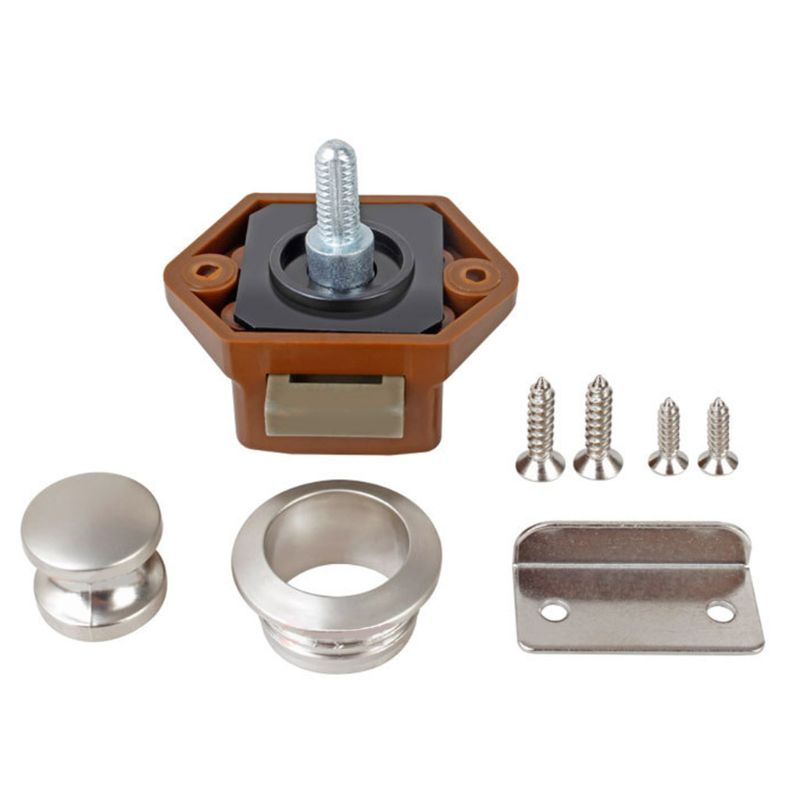 Diameter 20mm Camper Car Push Lock RV Caravan Boat Drawer Latch Button Locks For Furniture Hardware 87HE