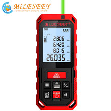 Mileseey s2/s8g laser verde rangefinder digital medidor de distância laser fita laser medida diastímetro ferramenta