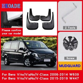 Guardabarros para coche, guardabarros para Mercedes Benz Vito Viano V clase 2019 ~ 2006 W639 W447, guardabarros, guardabarros