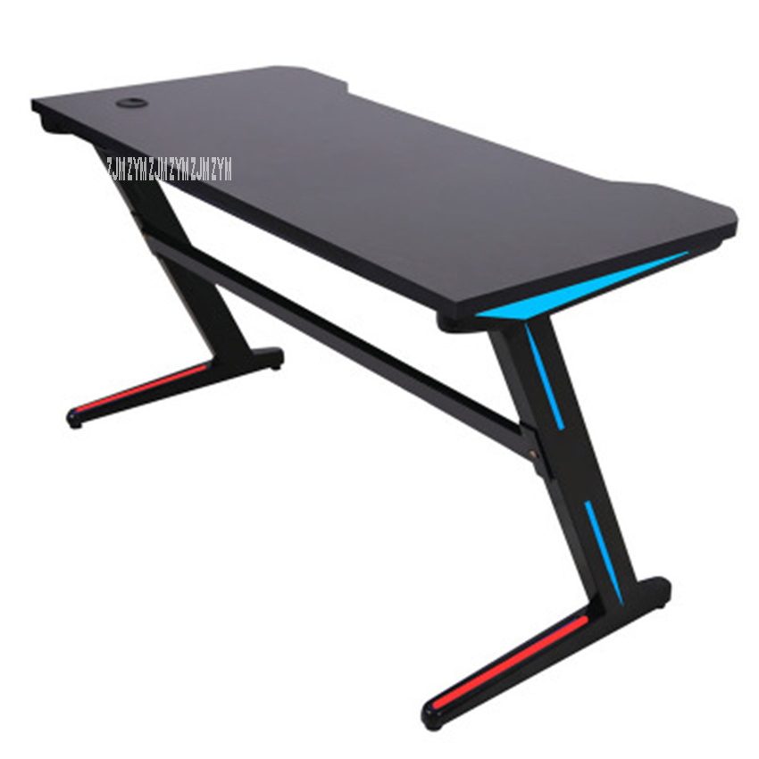 Z-A 1.2m Remote Control RGB Light E-Sports Computer Table Gaming L Aptop Desk Profession Steel Frame Single Player Gamers Table