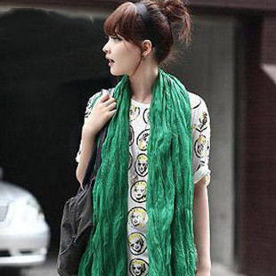2020 Women Scarf Cotton Hijab Scarf Pashmina Lady Shawls And Wraps Head Scarves Candy Colors Bandana Scarf/Black Scarves