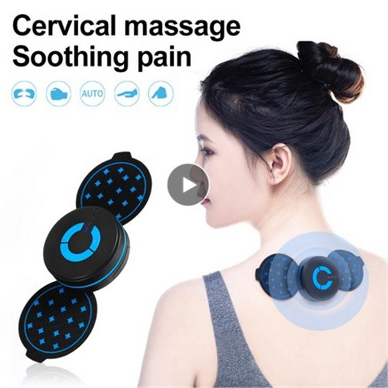 Portable Mini Electric Neck Cervical Massager Stimulator Back Thigh Massager Pulse Pain Relief Massage Sticker Patch Intelligent