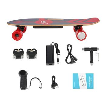 PU Wheel 3-Speed Electric Skateboard Lithium Battery Powered with Remote Controller 29.4V 2000mah Lithium Battery Maple Deck 17