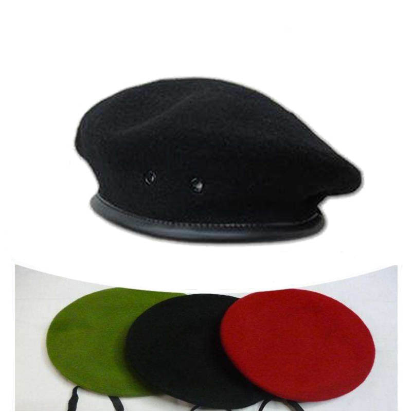 High Quality Breathable Soldier Training Men Beret Hat Male Wool Ivy Caps Gift