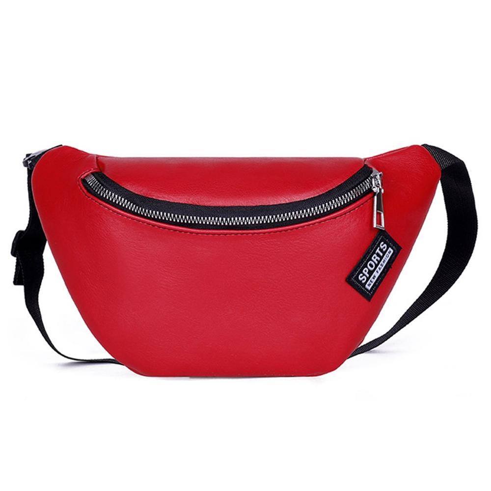 Women Waist Bag Messenger Chest  Phone Bag Fashion Solid Color Zipper Fashion Wild Personality Simple Versatile  H1