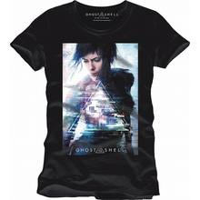 UFFICIALE di GHOST IN THE SHELL MOVIE POSTER NERO T SHIRT NUOVA Manica Lunga Hoddies unisex hoddie manica corta Tee Shirt shippin libero(China)