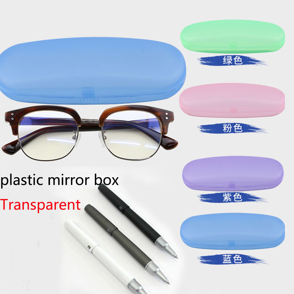 2019 New Glasses Case Box Cover View Storage Protection For Woman Man Sunglasses Case Transparent Lentes