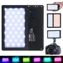 Vijim VL 2 rgb led photo studio luz de vídeo 2500k 8500k cor completa na câmera fotografia lâmpada de iluminação com tipo c porto