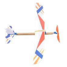 Diy mão jogar voando planador aviões elástico banda de borracha alimentado voando avião avião planador conjunto modelo brinquedos para crianças