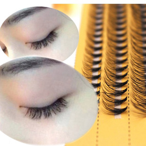Image 2 - New 60 bundles Individual Cluster Eye Lashes Grafting Eyelash Extensions 0.1mm Thickness 6 14mm Length Available