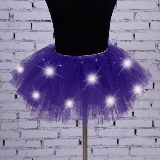 Women's Girl LED Light Up Tulle Tutu Dancing Skirt 2019 New Fashion 8 colors Party Night Skirts Halloween Costumes Skirts z0905 8