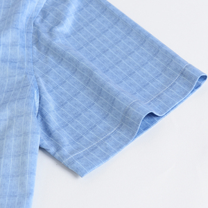 Image 3 - Holiday Casual Short Sleeve Checkered Printed Shirts Pocket less Design Standard fit Comfortable Soft Thin Mens Plaid Shirt