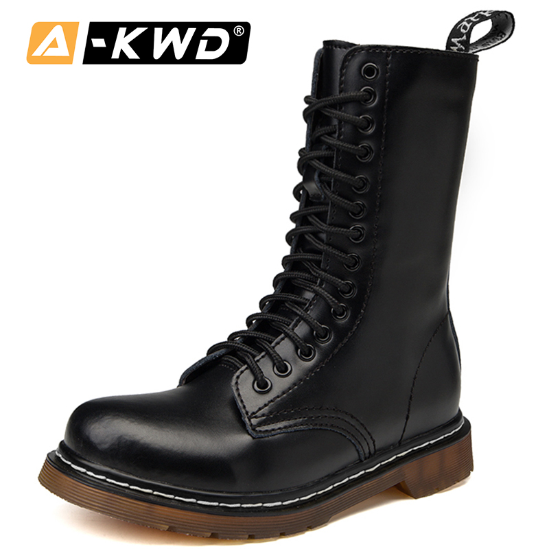 2020 Unisex Winter Shoes High Top Men's Boots Soft Genuine Leather Rubber Shoes Motorcycle Men Ankle Boots Couple Oxfords Shoes