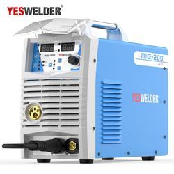 YESWELDER MIG200 200A Welding Machine No Gas and Gas MIG Welder With Light Weight Iron Weld Machine Single Phase 220V