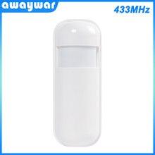 Awaywar 433 Mhz Wireless Rilevatore di Movimento PIR per la Casa Sistema di Allarme Smart Home, Casa Intelligente Sensore di Movimento Con La Batteria Anti-furto