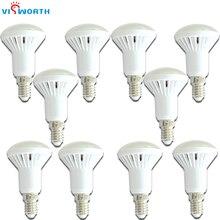 VisWorth (10 adet/grup) r50 Led ampul E14 kristal lamba Smd5730 AC 110V 220V 240V Lampada soğuk sıcak beyaz ev için dekorasyon